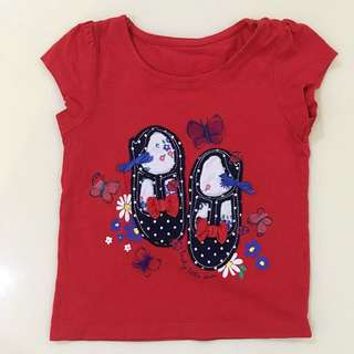 MOTHERCARE Red Shoes Tshirt (12-18m)