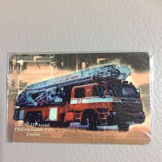 Brand new Phone card-BS 30-2Tl Aerial Platform Ladder Fire Engine