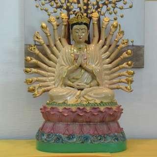 Thousand Hands Guan Yin Buddha Bucha Statue BE 2543 Wat Nog Lp Chek