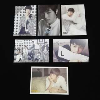 (CLEARANCE) INFINITE L OFFICIAL PHOTOCARD