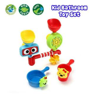FREE POS Ready Stock Fountain Baby Bath Toys Game Children Kids Water Bathroom Toy Set
