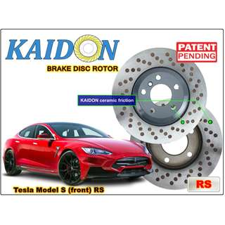 "Tesla Model S brake disc rotor KAIDON (front) type ""RS"" / ""BS"" spec"