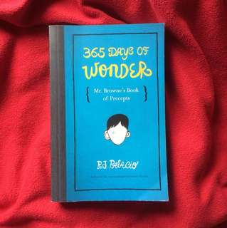 365 days of wonder by R.J. Palacio