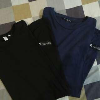 PENSHOPPE LONG TEE.BLACK AND DARK BLUE 🔫