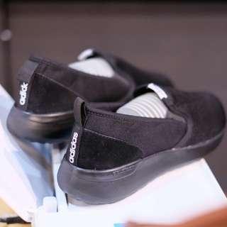 Sepatu Adidas Cloudfoam Neo Lite Racer Slip-on Full Black