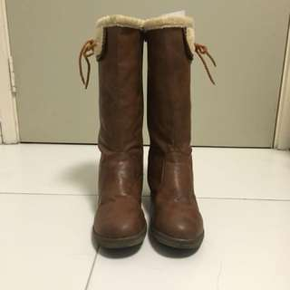 Winter Boots - Brown Color