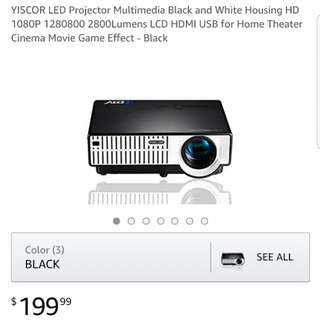 Yiscor LED Projector CNY PROMO! Usual Price - $199 ( Now Price - $148 )