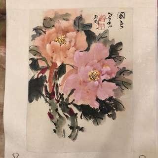 大師國畫-牡丹花(國色天香)
