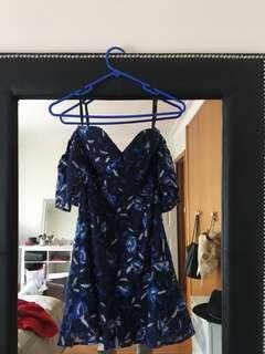 Bardot Sapphire lace dress