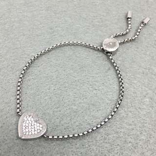 Michael Kors Sample Bracelets 銀色心心閃石手鍊