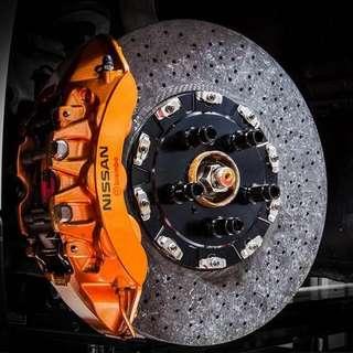 Nissan GTR R35 Carbon Ceramic Brakes Rotor Disc & Pads
