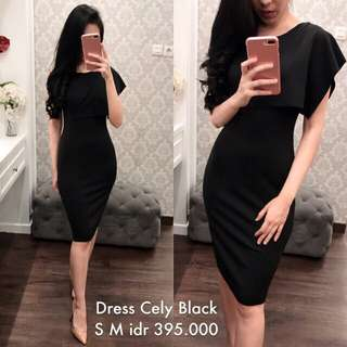 Dress pesta hitam / nude / maroon turun harga