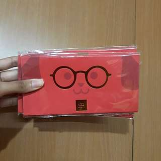 Owndays Adorable Bespectacled Dog Red Packets/Angpows