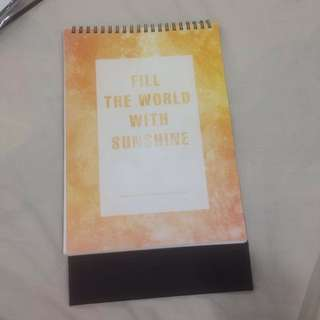 KAI Fill the world with sunshine sg calendar