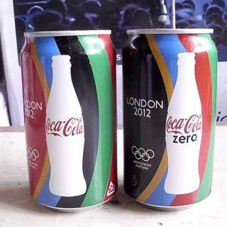 一套2罐12年倫敦奧運可口可樂紀念罐