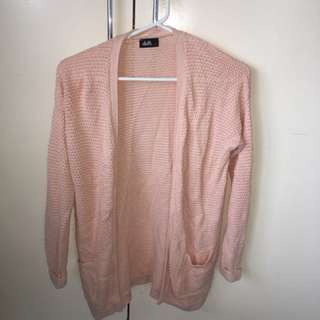 Dotti pink long cardigan