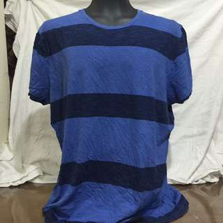 PREMIUM blue stripes plus size men tshirt xxl