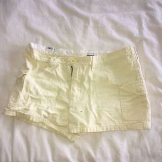Pastel yellow shorts