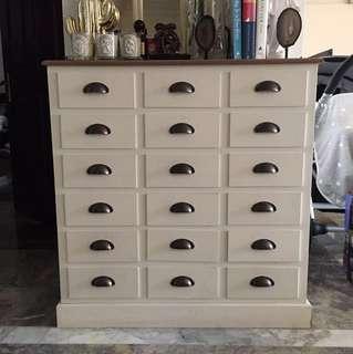 Lemari informa / drawer 18 laci mulussss