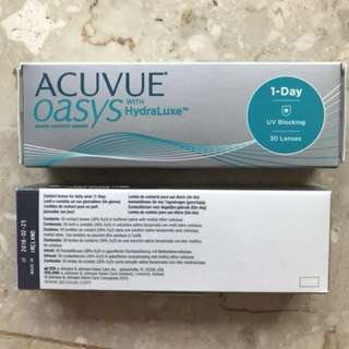 Acuvue Oasys daily contact lens