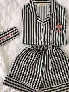 Panda Stripe pajamas