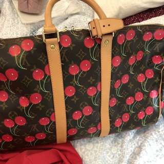 Authentic Louis Vuitton keepall 45 cherry limited
