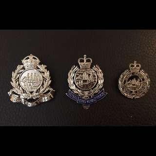 香港30年代舊男皇冠警章 + Royal Hong Kong Police 皇家香港警察 RHKP PTU 帽章