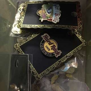 Various Hard Rock Cafe pins
