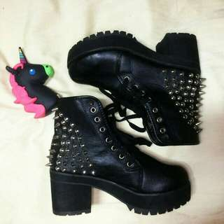 Spike Studded Ankle Boots