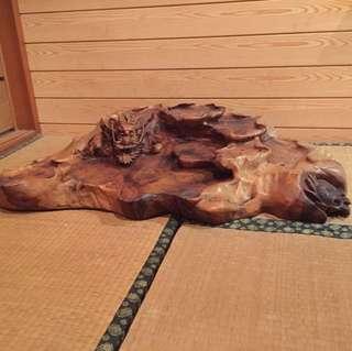 龍造型木茶盤