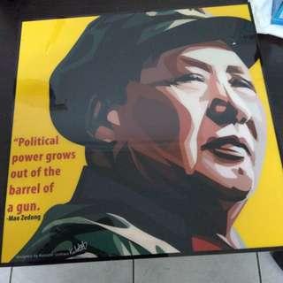 🚚 毛澤東 槍桿子裡出政權  掛件 掛飾 裝飾品