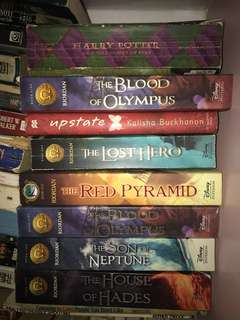 JK Rowling and Rick Riordan books