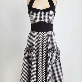 Hellbunny Vixen vintage inspired dress (salt and pepper swing dress)