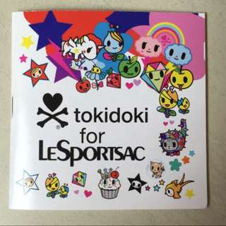 BRAND NEW Tokidoki X LeSportSac Temporary Tattoos