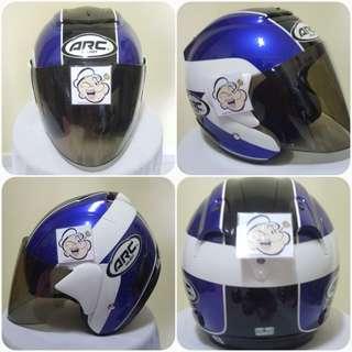 1502***ARC TAIRA Blue v Tinted Visor Helmet For Sale 😁😁Thanks To All My Buyer Support 🐇🐇 Yamaha, Honda, Suzuki