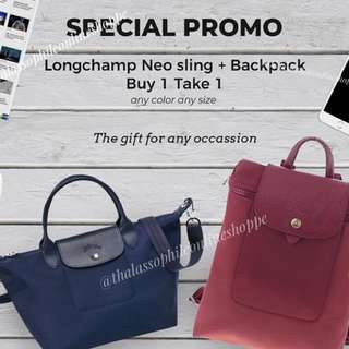 BUY1Take1 Long Champ Neo and Backpack