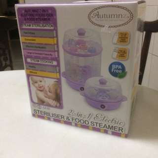 Autumnz 2 in 1 Electric Steriliser and Food Steamer