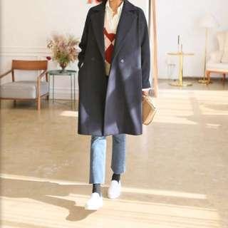 MAKMAKS Black Korean Winter Coat