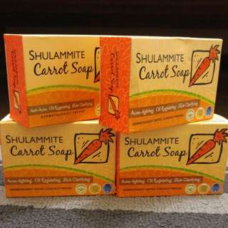 Authentic Shulammite carrot soap: Anti-acne, oil regulating, skin clarifying
