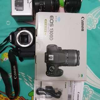 canon 1300d free 2 lens