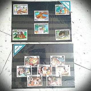 小飛俠 狗 Peter Pan lady and the tramp小姐與流氓 Dog disney Stamp 郵票