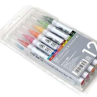 Kuretake Zig Clean Color Real Brush 12 Color Set