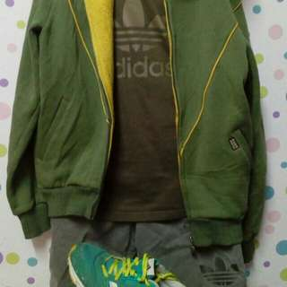 Adidas hooded n short pant