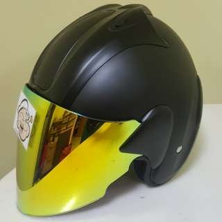 1502***ARC Ritz v Gold visor Helmet For Sale 😁😁Thanks To All My Buyer Support 🐇🐇 Yamaha, Honda, Suzuki