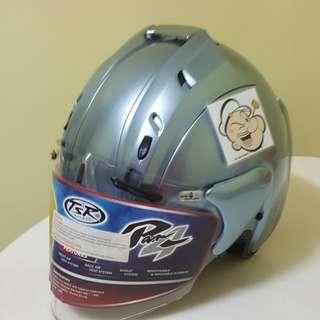 1502♡♡TSR RAM4 Sapphire Silver Helmet CONVERT TO ARAI 🦀 For SALE, Yamaha Jupiter, Spark, Sniper,, Honda, SUZUKI