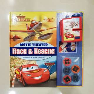 Race & Rescue Movie Theatre - Cars & Planes Storybook & Movie Projector