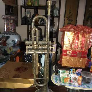 Antique brass h 53 cm