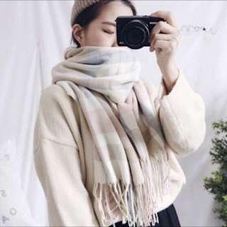 🚚 Cunz 可愛配色柔軟圍巾