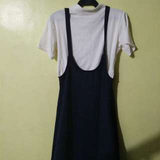 Navy Blue Kami Dress
