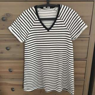 FIFTH shirt dress black and white